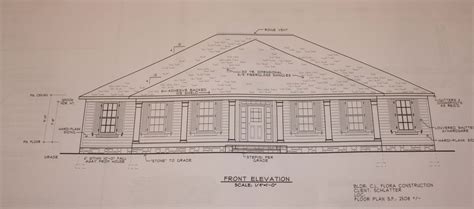 floor plan with perspective house front view and floor plan