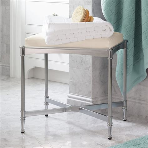 Bathroom Vanity Bench Stool Belmont Vanity Stool Traditional Vanity Stools And Benches