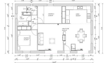 Plan Maison Plein Pied 80m2 plan maison 80m2 avec 3 chambres 1 plan maison 80m2 avec 3