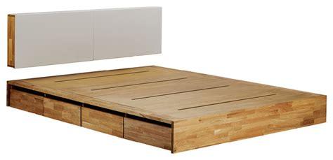 Platform Bed With Storage Wood Mash Lax Platform Solid Wood Storage Bed Modern