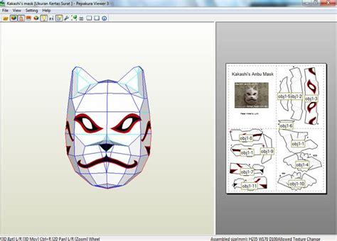 Kakashi Anbu Mask Papercraft - anime papercraft written by sai nagata on senin 01