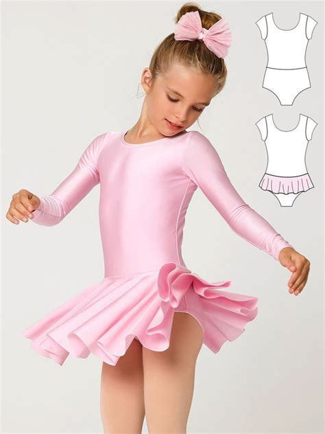 sewing pattern leotard leotard patterns leotard 3 girls short long sleeve
