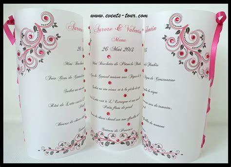 Modèle Menu Mariage Gratuit Word