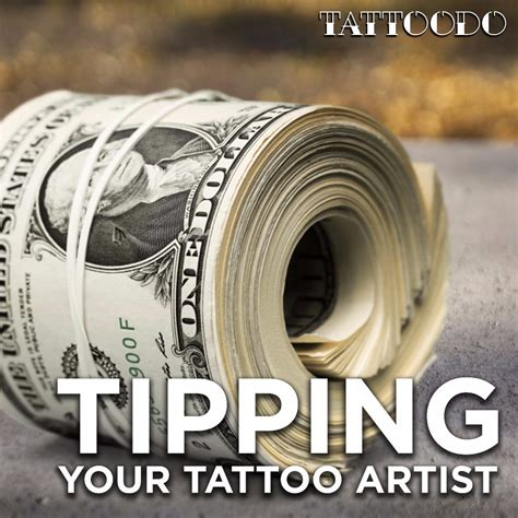 how much should you tip your tattoo artist tattoo