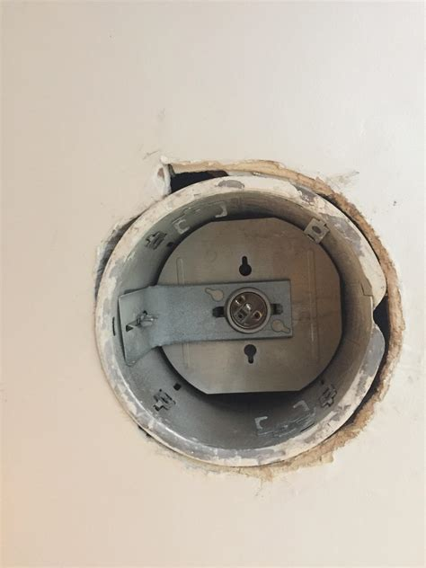 Drywall Fixing Hole In Ceiling For Recessed Light After Water From Ceiling Light