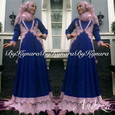 Cat Syar I Madina Benhur Baju Muslim andiza by kynara biru elektrik baju muslim gamis modern