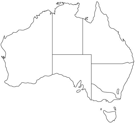 australia map outline australia outline map