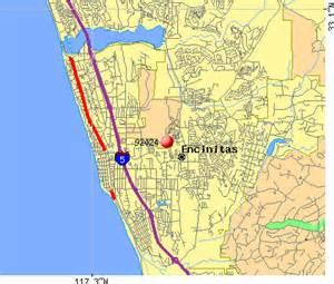 encinitas california map pin encinitas ca map on
