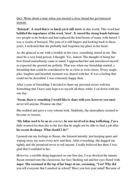 Betrayal Essays by Betrayal Essay