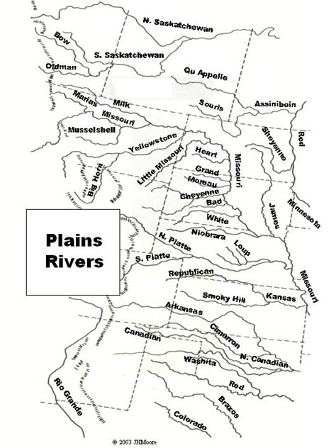names of rivers john h moore