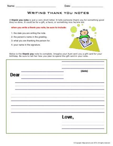 Thank You Letter Worksheet Friendly Letters Thank You Notes Invitations