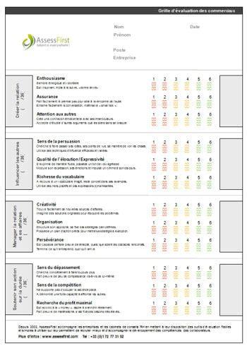 Grille Evaluation Cv by Grille 233 Valuation Du Commercial Mod 232 Le Gratuit De Lettre