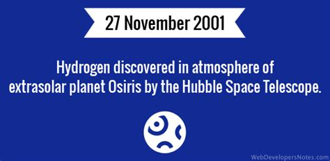 hydrogen discovered  atmosphere  extrasolar planet osiris