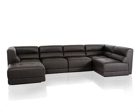 Eco Sofas by Eco Leather Sectional Sofa In Modern Style 44l5983