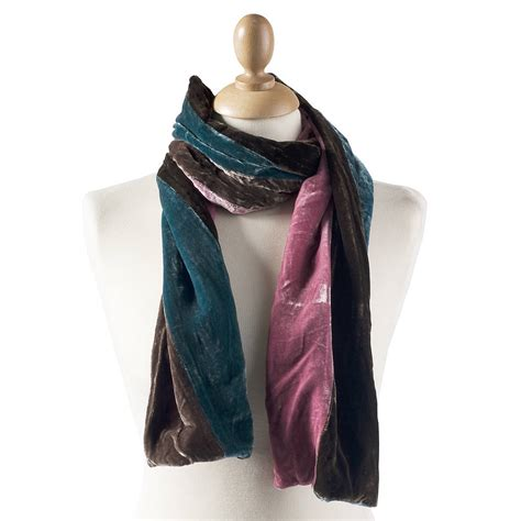 two tone silk velvet scarf by bags not war