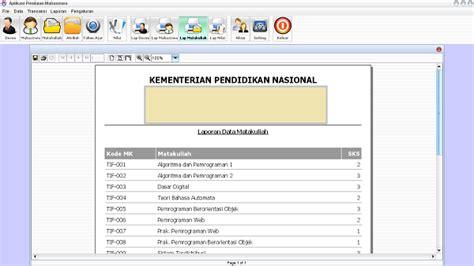 gambar desain database source code sistem informasi akademik pendataan nilai