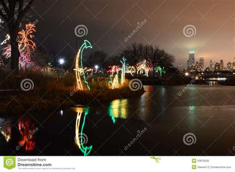 lincoln center festival of lights chicago lincoln park light festival editorial image