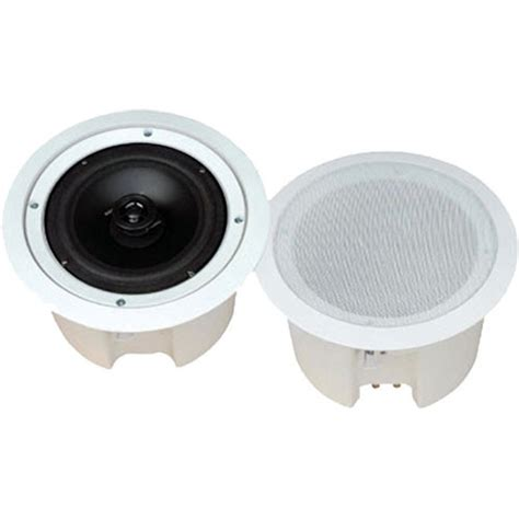 pyle ceiling speakers pyle pro pdpc62 6 5 quot enclosed two way in ceiling pdpc62 b h