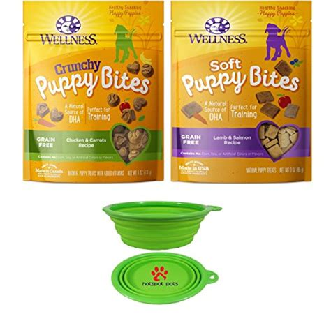 wellness soft puppy bites wellness puppy bites for dogs variety bundle 2 pack salmon chicken carrots w