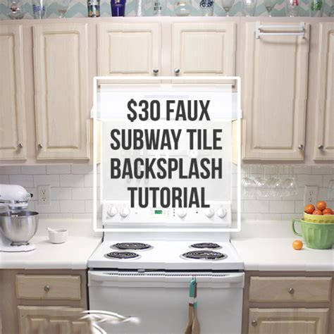 easy to install backsplashes for kitchens 30 faux subway tile backsplash diy submitted to