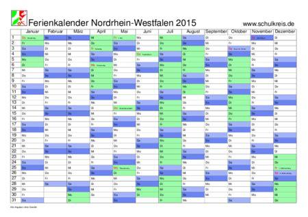 Nrw Kalender 2015 Schulkreis De Schulferien Kalender Nrw Nordrhein Westfalen