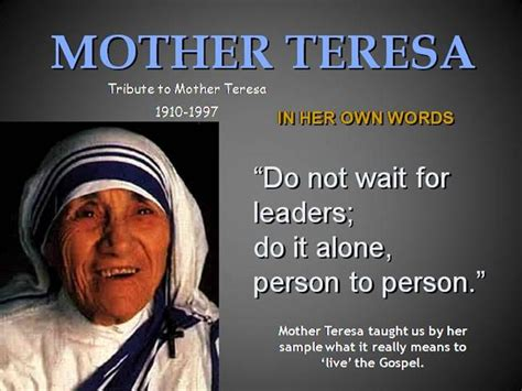 mother teresa biography for powerpoint mother teresa authorstream