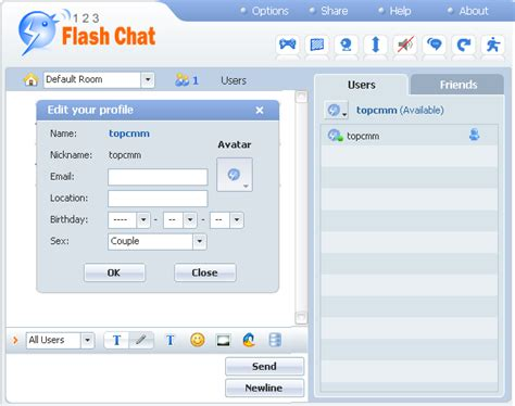 user manual of 123 flash chat server software version 7 5
