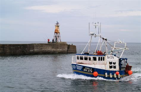 boat lights wiki file amble north pier light with fishing boat geograph
