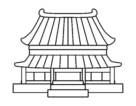 chinese house coloring page traditional chinese house coloring page coloringcrew com