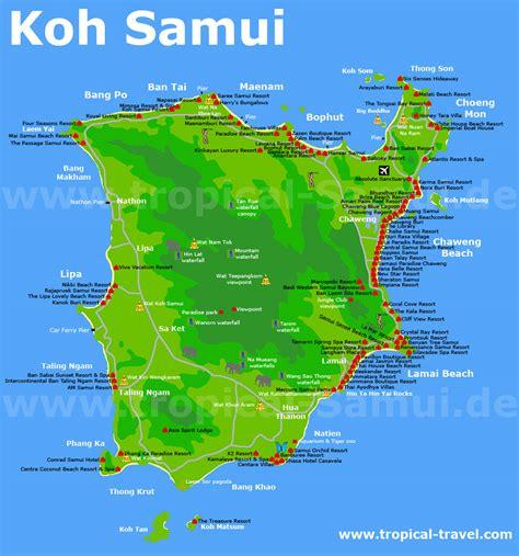 printable map koh samui destination hotel and island maps tropical travel com