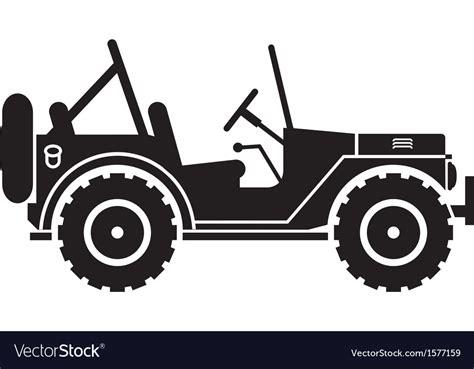 jeep vector jeep silhouette royalty free vector image vectorstock