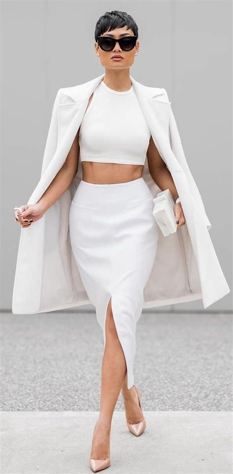 trendy  white outfits   fall  love