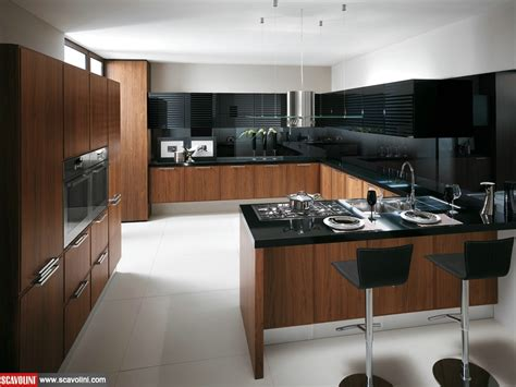 scavolini modern kitchen dark wood glossy white lacquer reflex skyline kitchens