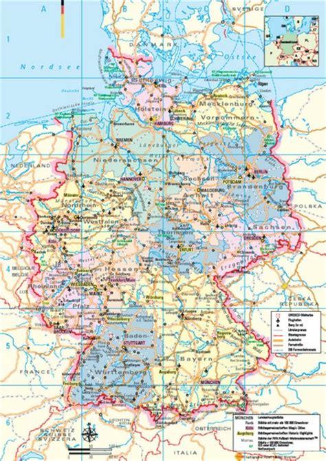tourist map germany germany tourist map germany mappery
