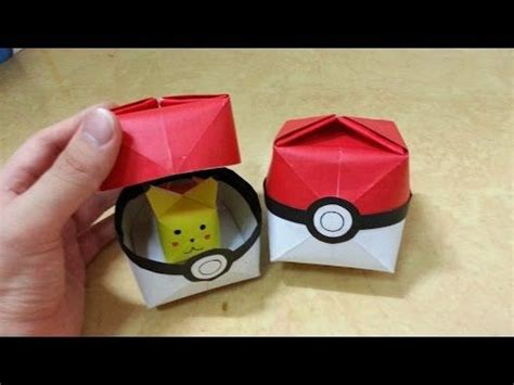 How To Make Paper Pokeball - origami pokeball best 20 origami pikachu