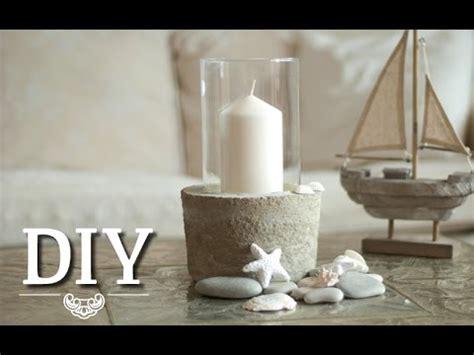 Kerzenhalter Vase by Diy Coole Deko Vase Windlicht Aus Glas Und Beton Selber