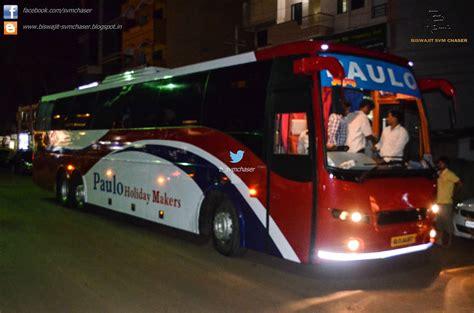 Paulo Travels Sleeper by Paulo Volvo B9r Multiaxle Ka01 Aa 8077 Biswajit Svm Chaser