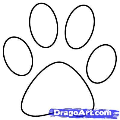 how to draw a paw draw a paw print step by step pets animals free drawing tutorial added by