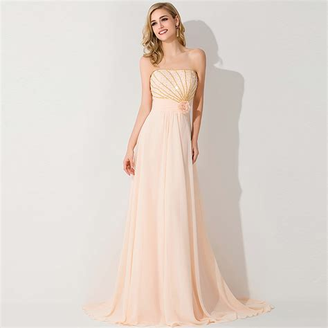 brautkleider orange light orange beaded chiffon bridesmaid dresses 2015