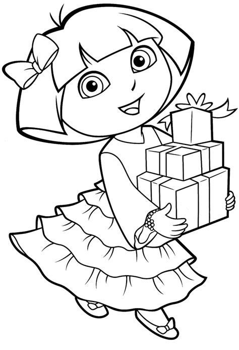 printable dora coloring pages free printable coloring