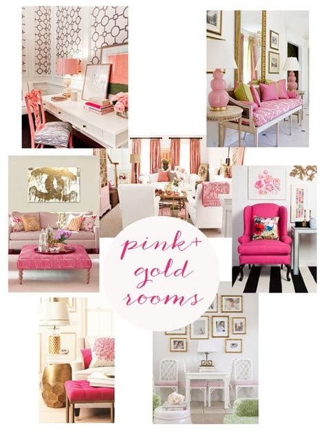 Ideas For A Gray Bedroom - pink and gold rooms