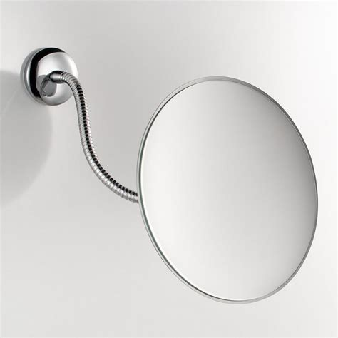 wall mounted lighted magnifying bathroom mirror pkgny com shop ws bath collections mirror pure chrome magnifying
