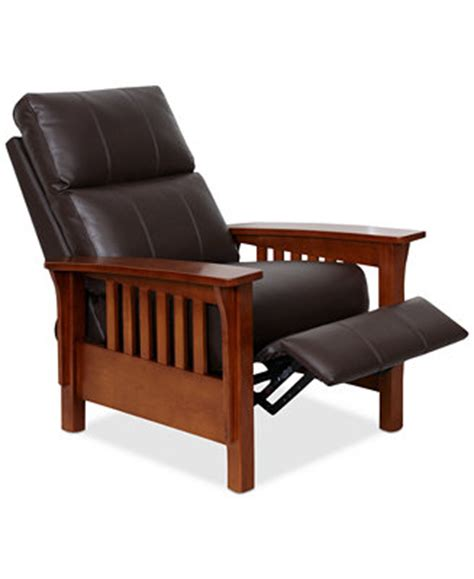 Harrison Leather Recliner Chair harrison leather recliner furniture macy s