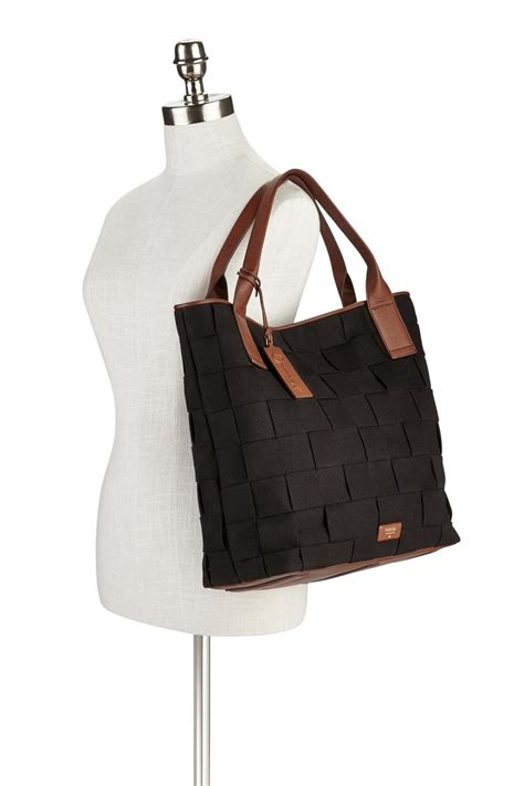 Fossil Emerson Size L fossil emerson woven tote from by shoptiques