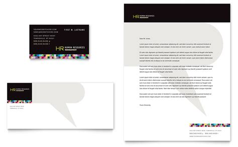 Human Resource Management Business Card Letterhead Template Word Publisher Human Resources Templates