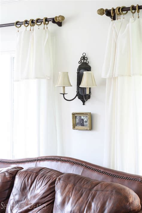 curtain coming down over eye farmhouse drop cloth curtains she holds dearly