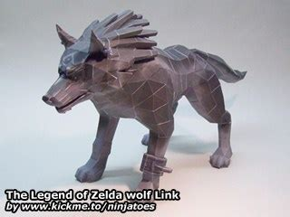 Wolf Link Papercraft - the legend of wolf link ninjatoes papercraft webpage