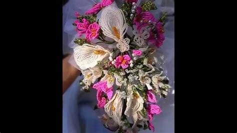 fiori con le perline fiori di perline bouquet sposa e acconciatura