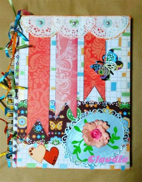 cuadernos decorados de tela lindas manualidades cuadernos decorados adonos