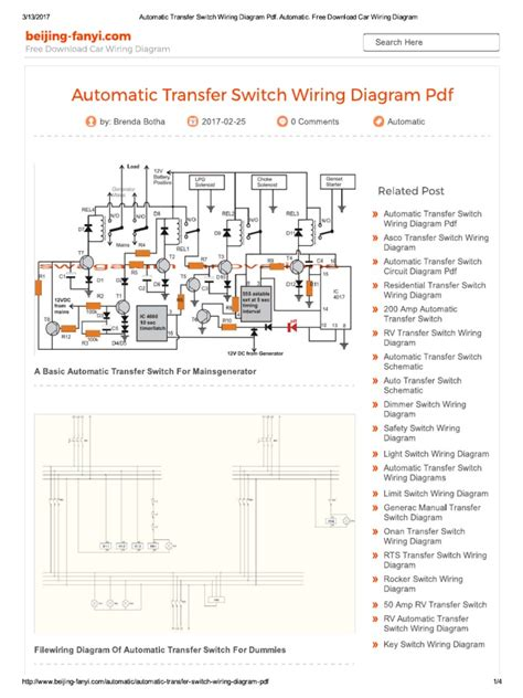 residential transfer switch wiring diagram wiring